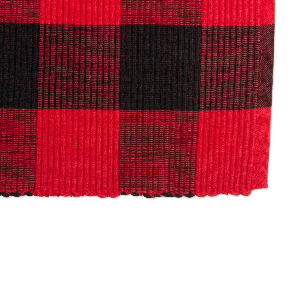 DII Red Buffalo Check Ribbed Placemat (Set of 6)