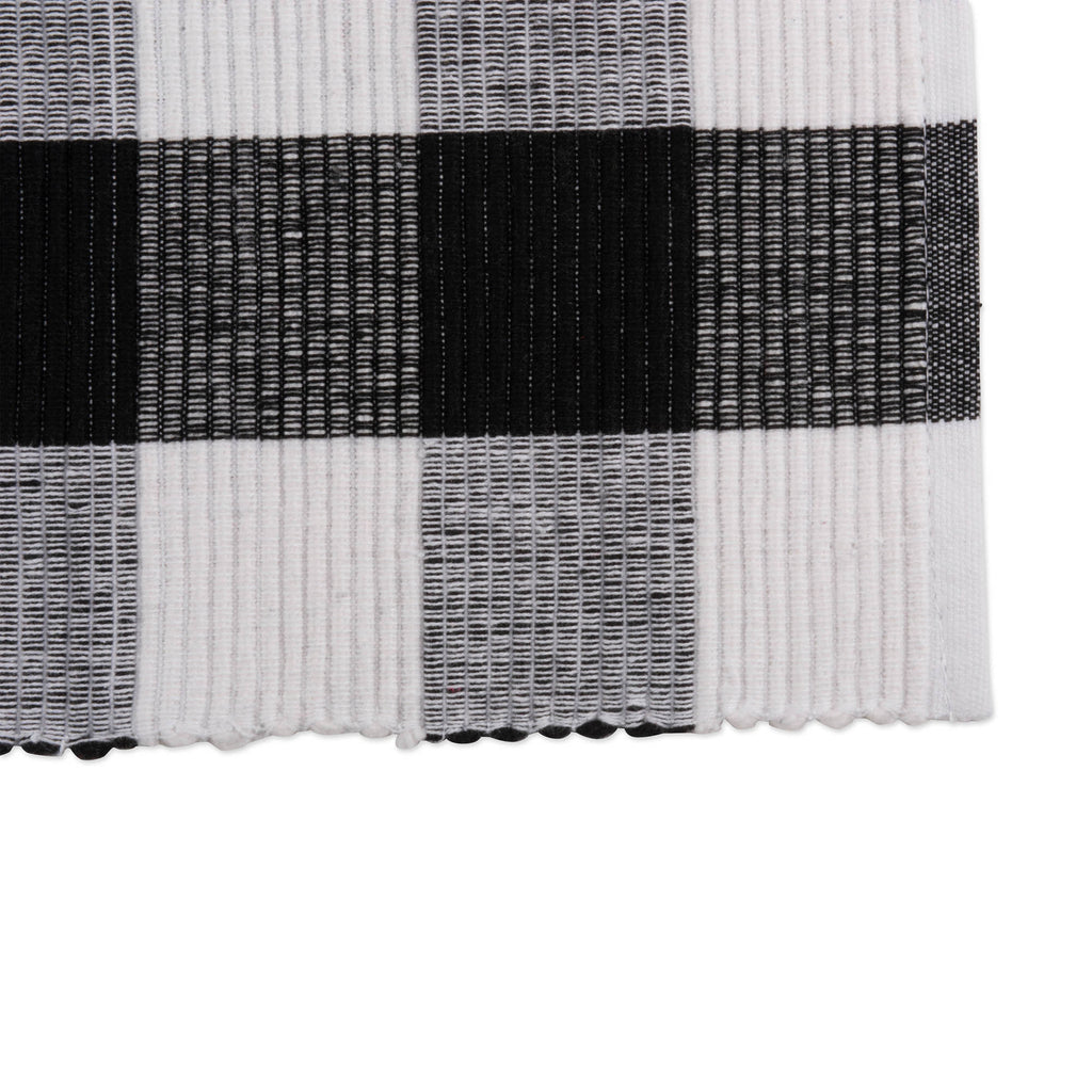 DII Black Buffalo Check Ribbed Placemat (Set of 6)