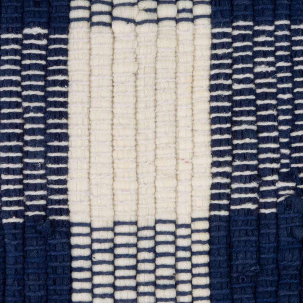 DII Navy & Cream Buffalo Check Rag Rug