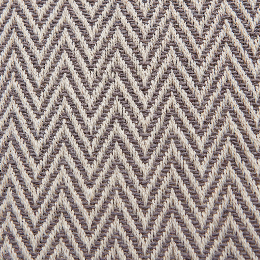 DII Gray Chevron Handloom Table Runner, 15x72""