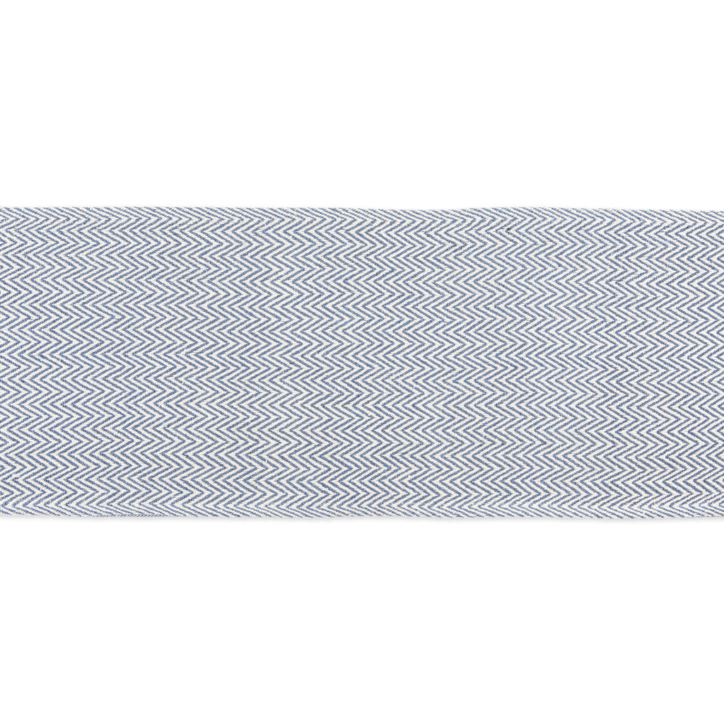 DII French Blue Chevron Handloom Table Runner, 15x72""
