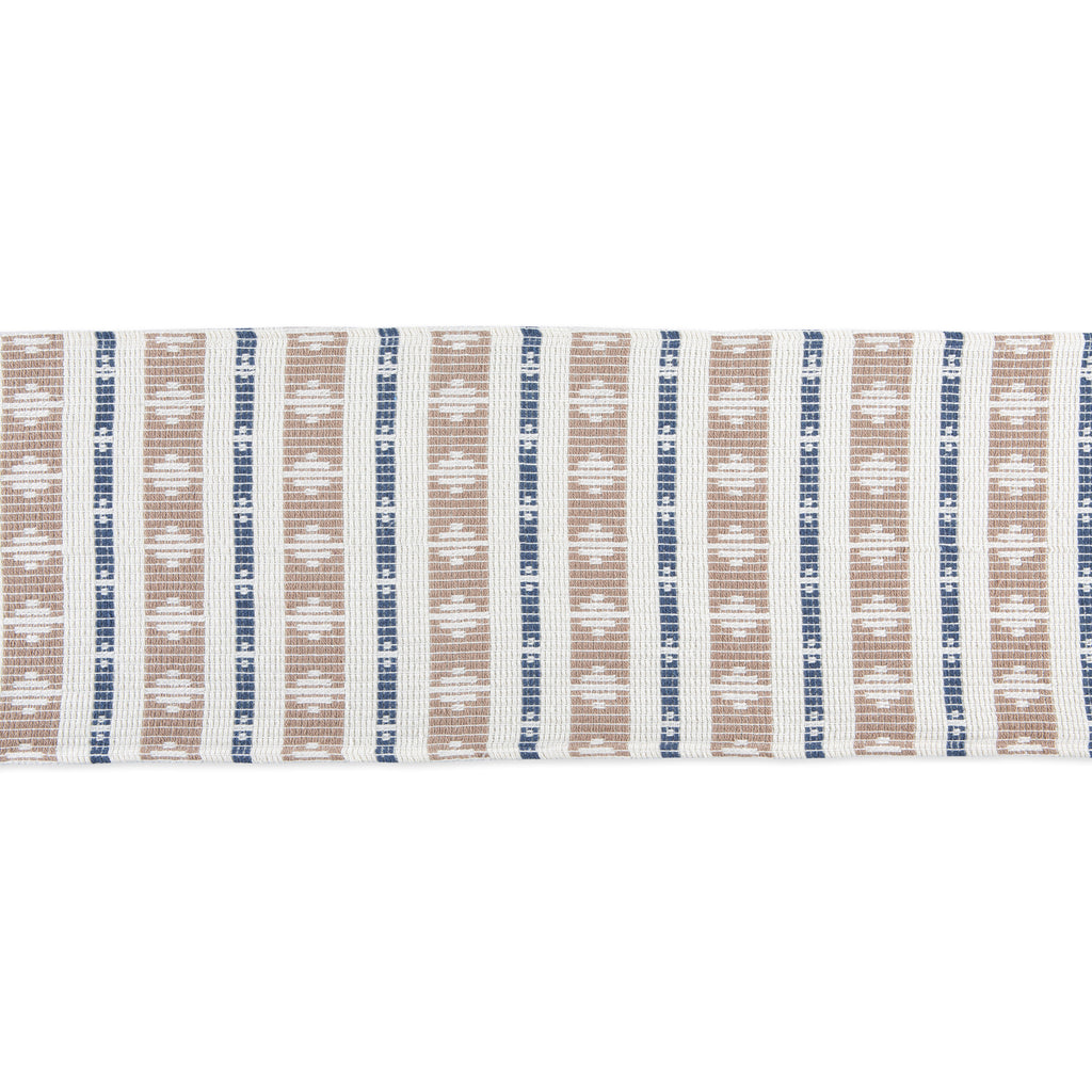 DII French Blue/Stone Colby Southwest Table Runner, 15x72""