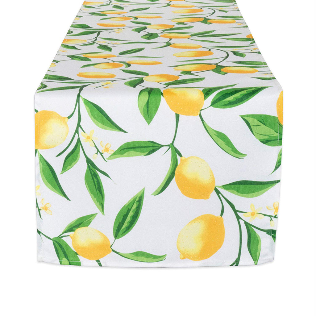 Lemon Bliss Print Outdoor Table Runner 14x72