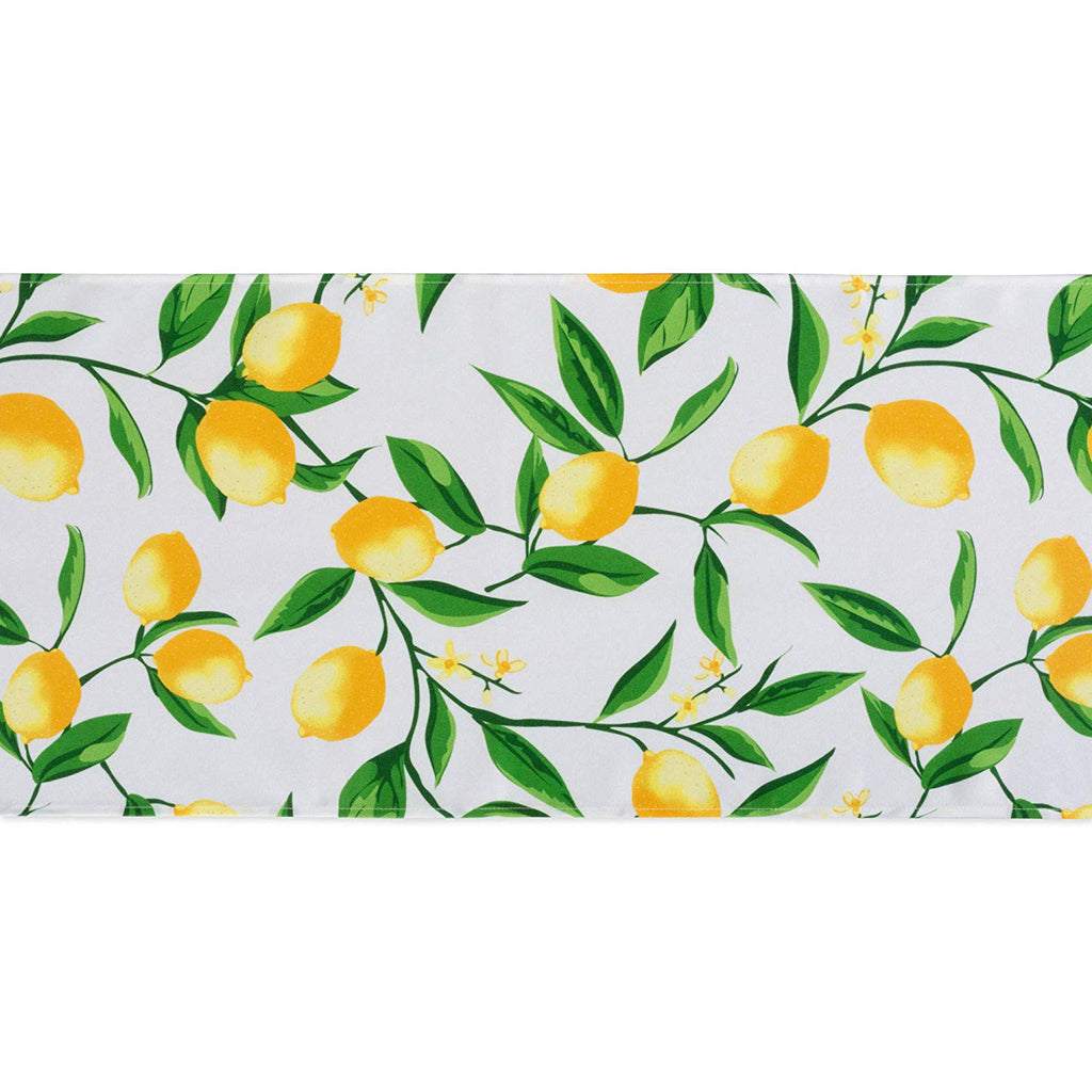 DII Lemon Bliss Print Outdoor Table Runner, 14x72""