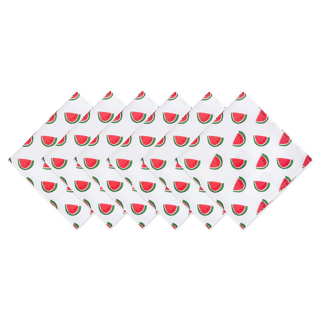 Watermelon Print Outdoor Napkin Set/6