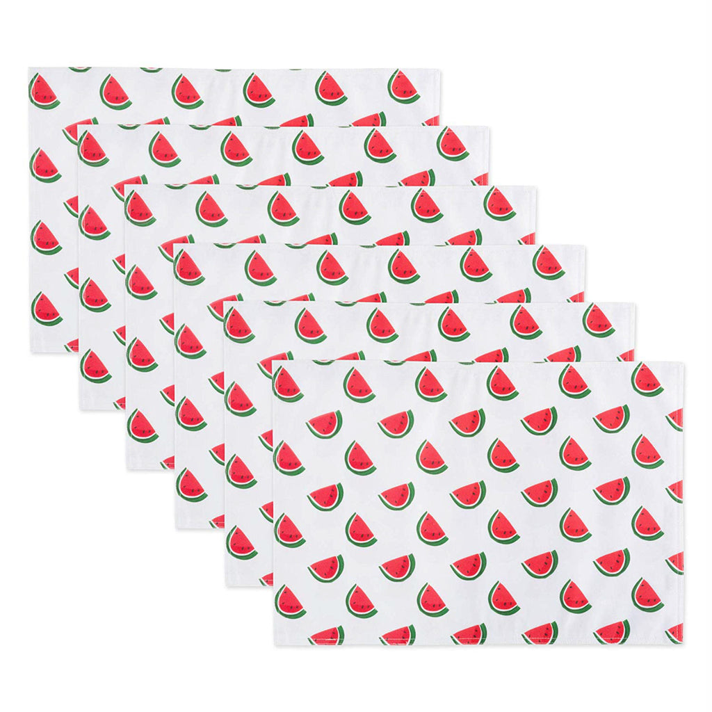 Watermelon Print Outdoor  Placemat Set/6