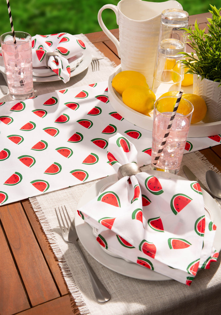 DII Watermelon Print Outdoor Placemat (Set of 6)