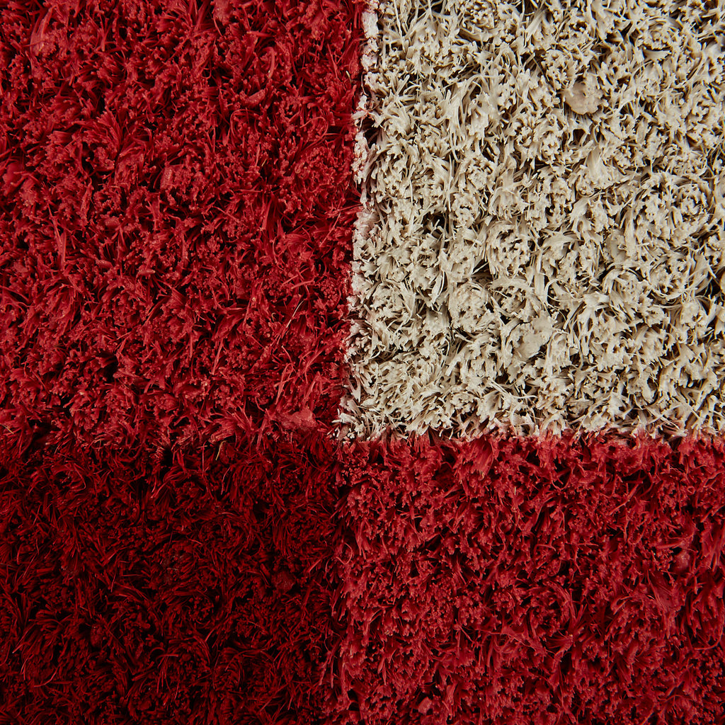 DII Red & White Buffalo Check Doormat
