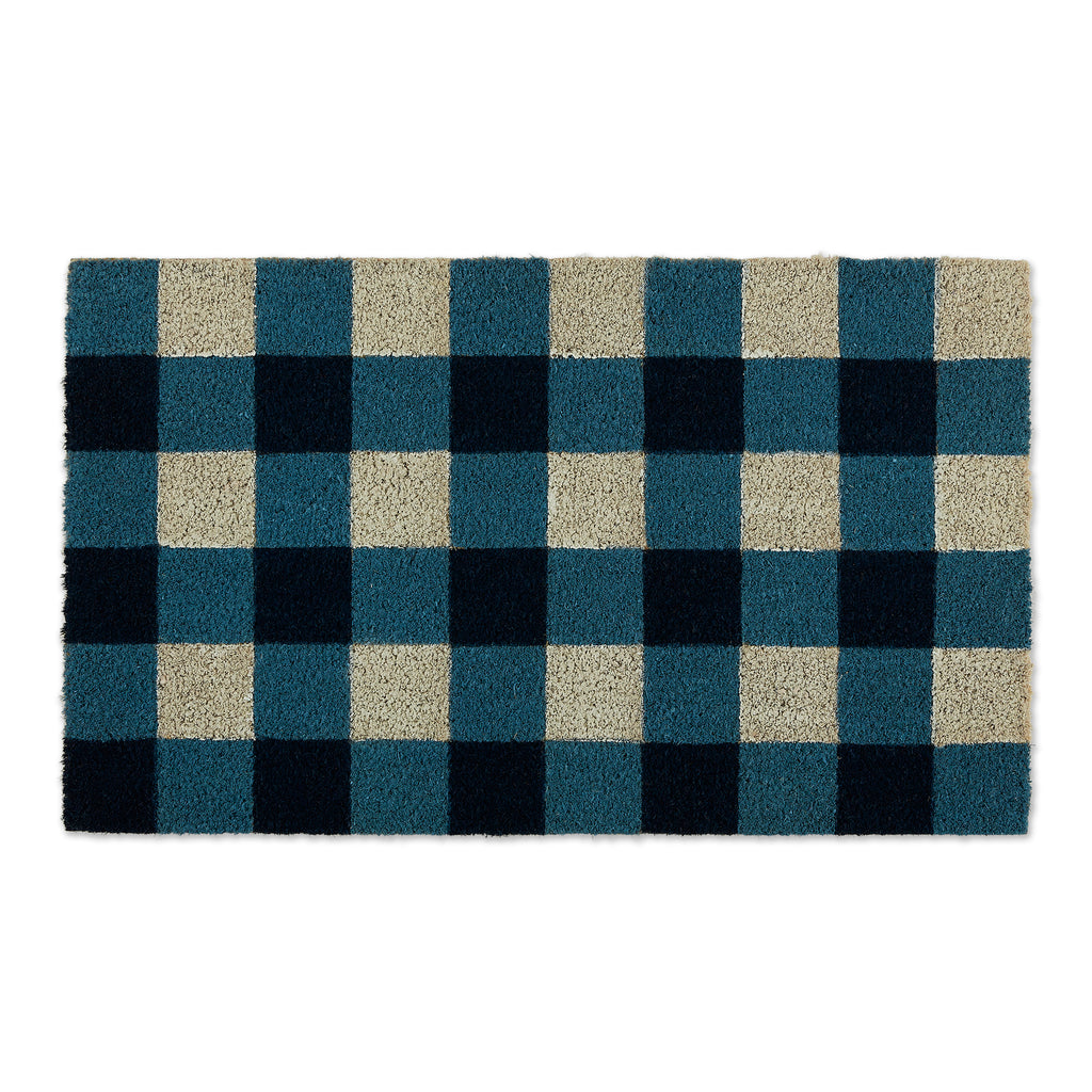 Navy & White Buffalo Check  Doormat
