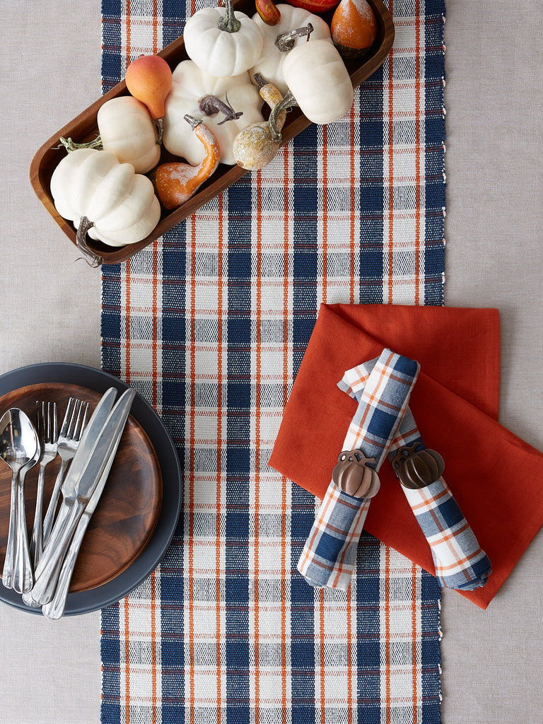DII Autumn Farmhouse Plaid Table Runner