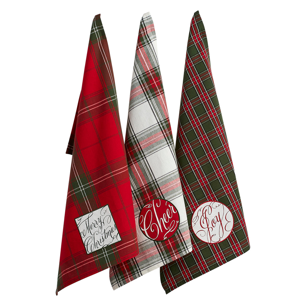 Joyful Wishes Embellished Dishtowel Set/3
