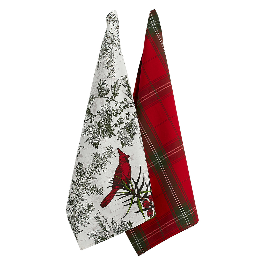 Holiday Botanical Dishtowel Set/2