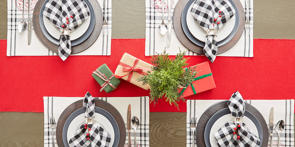 DII Vintage Farm Check Napkin (Set of 6)
