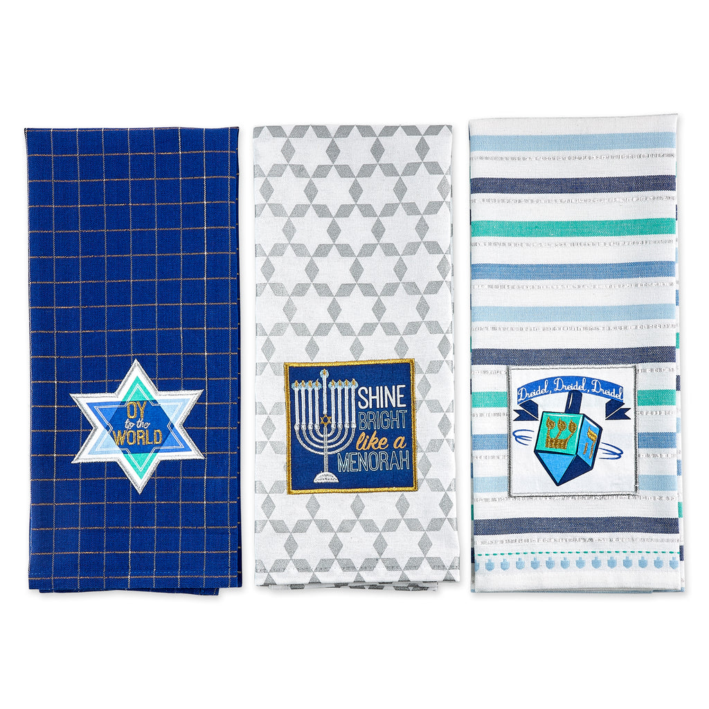 DII Assorted Hanukkah Dishtowel (Set of 3)