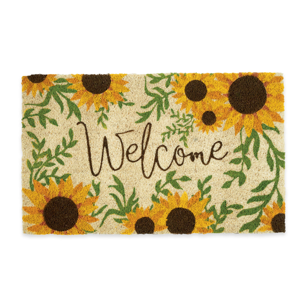 Sunflower Welcome Doormat