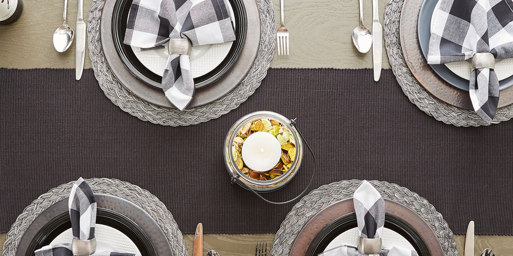 DII Black Table Runner, 13x72""