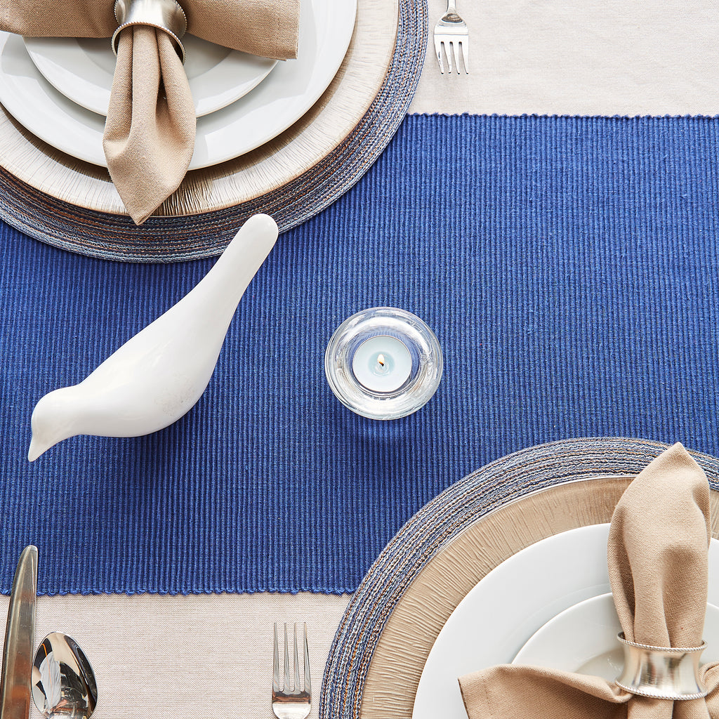 DII Nautical Blue Table Runner 72