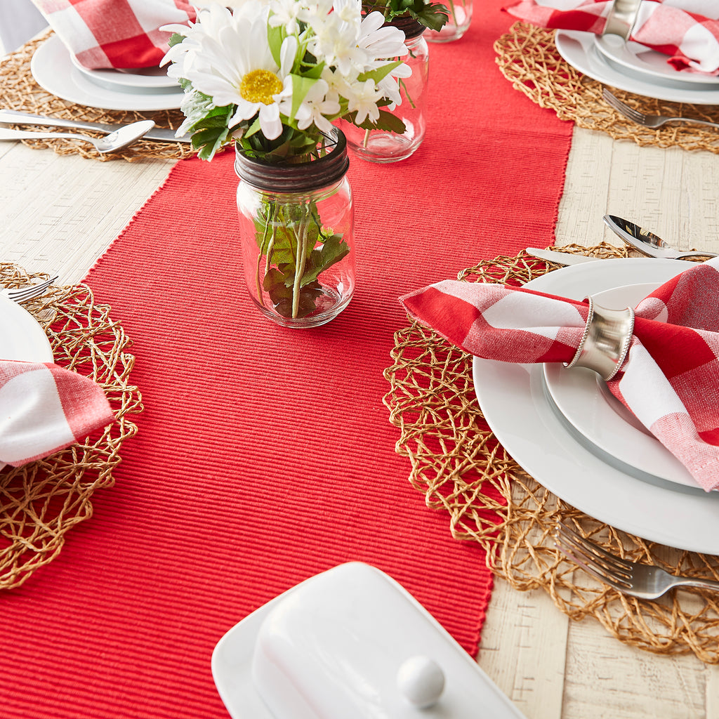 DII Tango Red Table Runner 72
