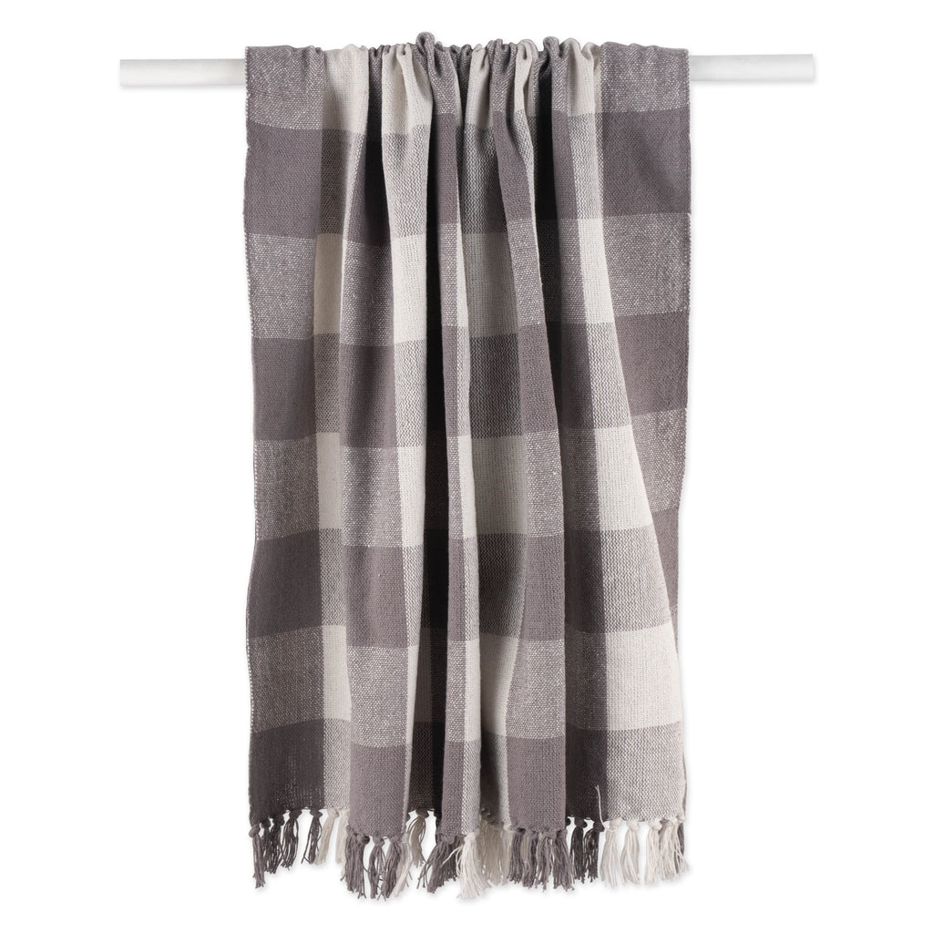 DII Gray & White Buffalo Check Throw