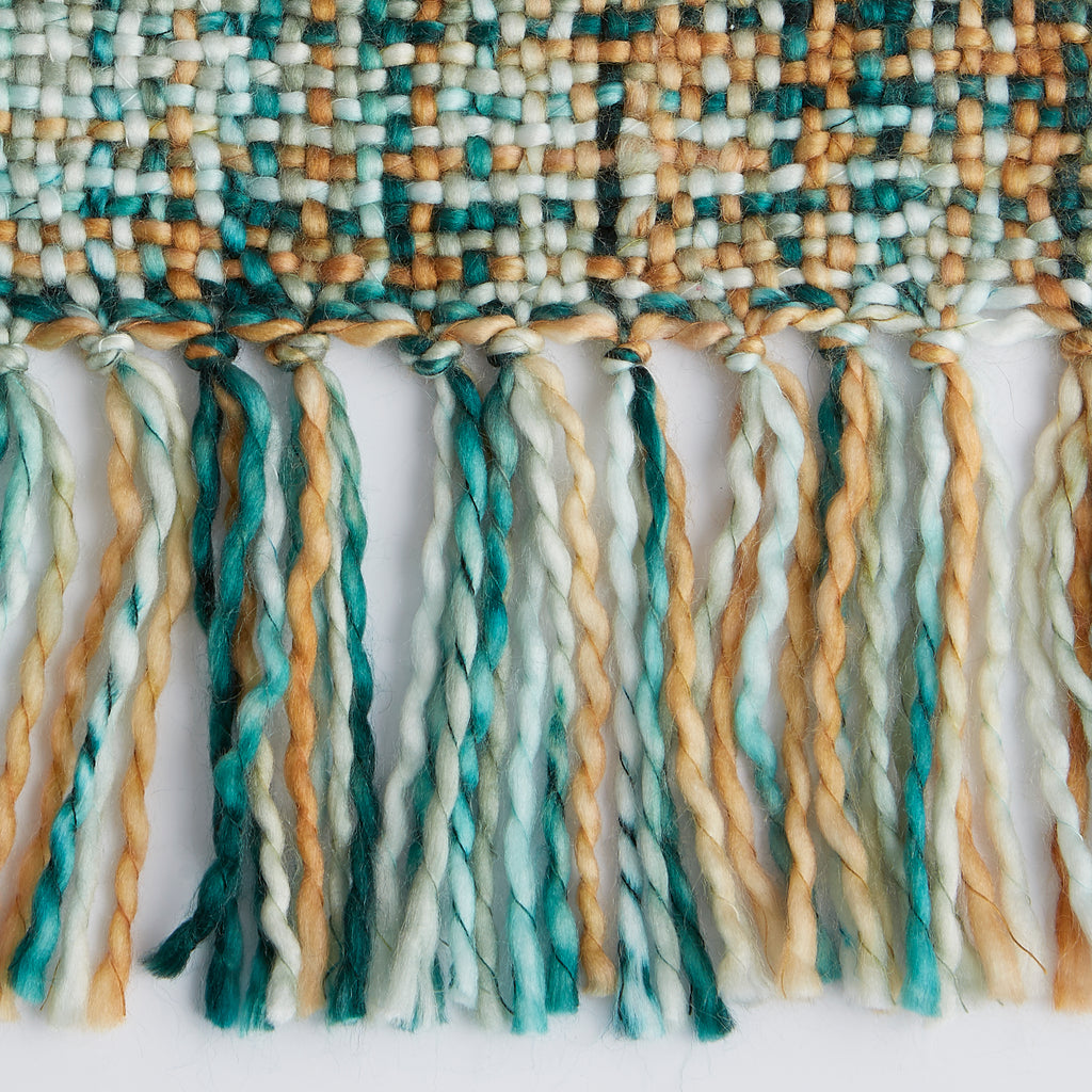 DII Variegated Teal Acrylic Throw