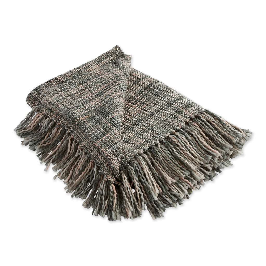 Variegated Gray Acrylic Throw