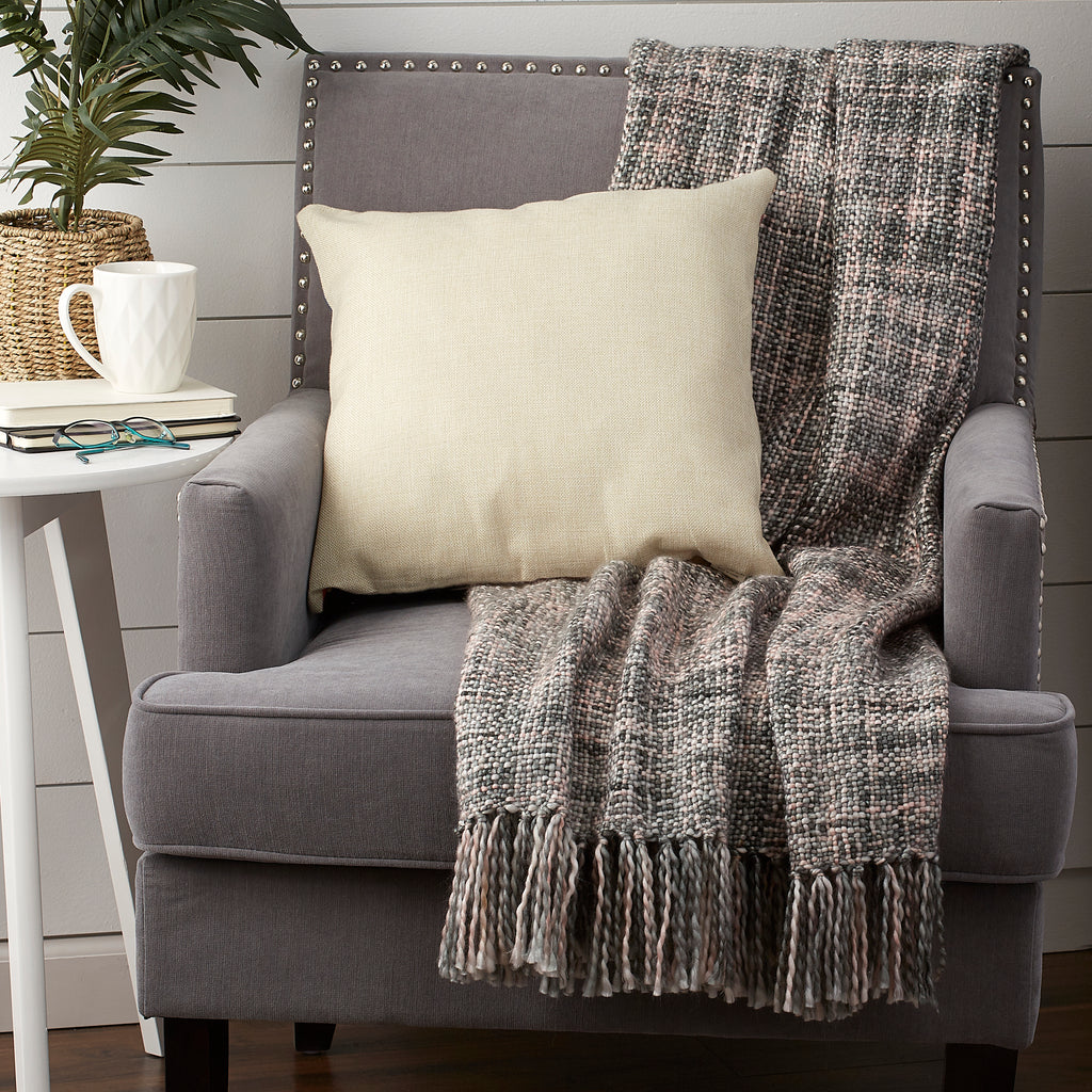 DII Variegated Gray Acrylic Throw