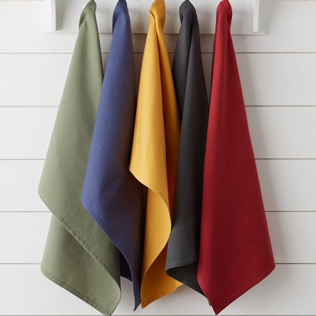 Mineral Flat Woven Dishtowels (Set Of 6)