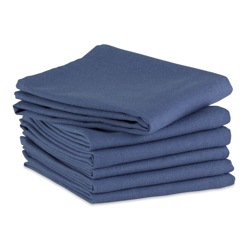 French Blue Flat Woven Dishtowels (Set Of 6)