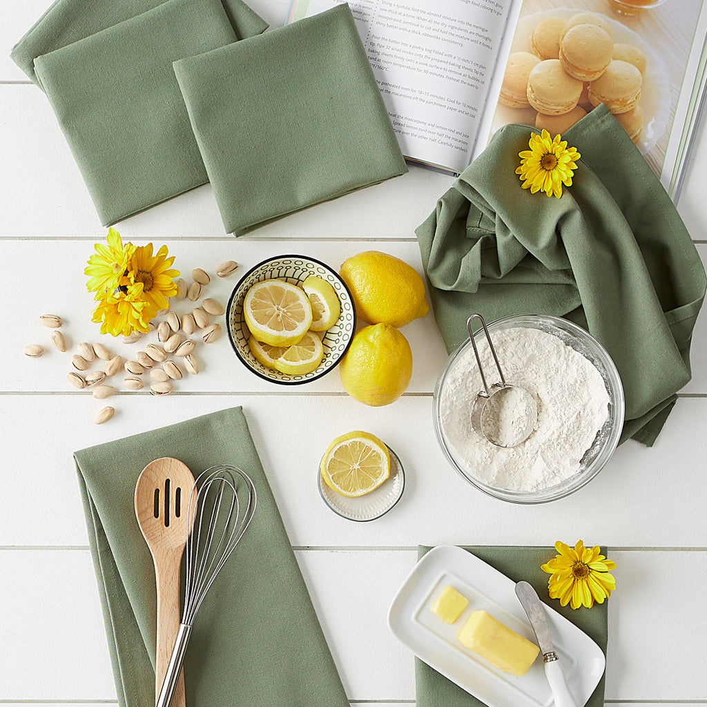 Artichoke Flat Woven Dishtowels (Set Of 6)