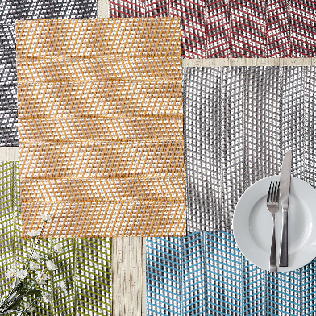 Mineral Gray Textured Twill Weave Placemat (Set Of 6)