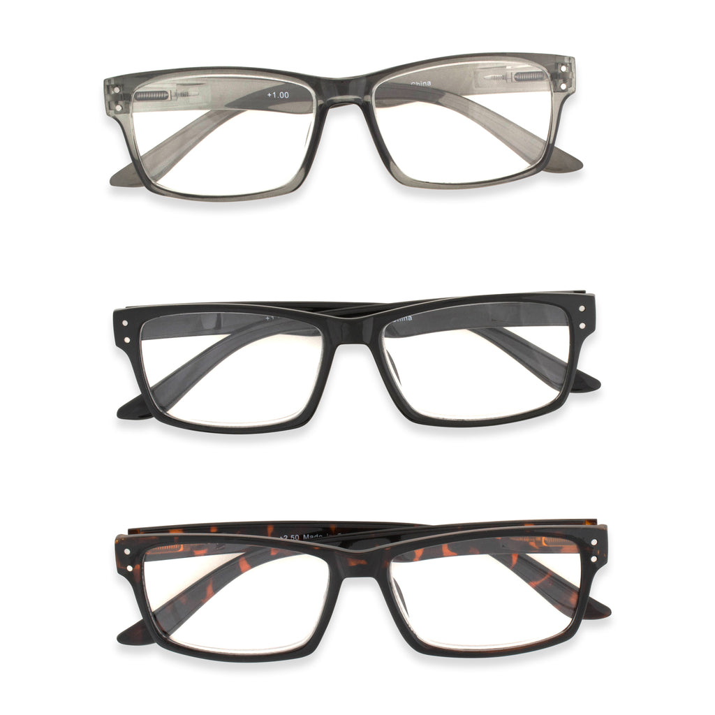 3pc Reading Glasses Set 2.5