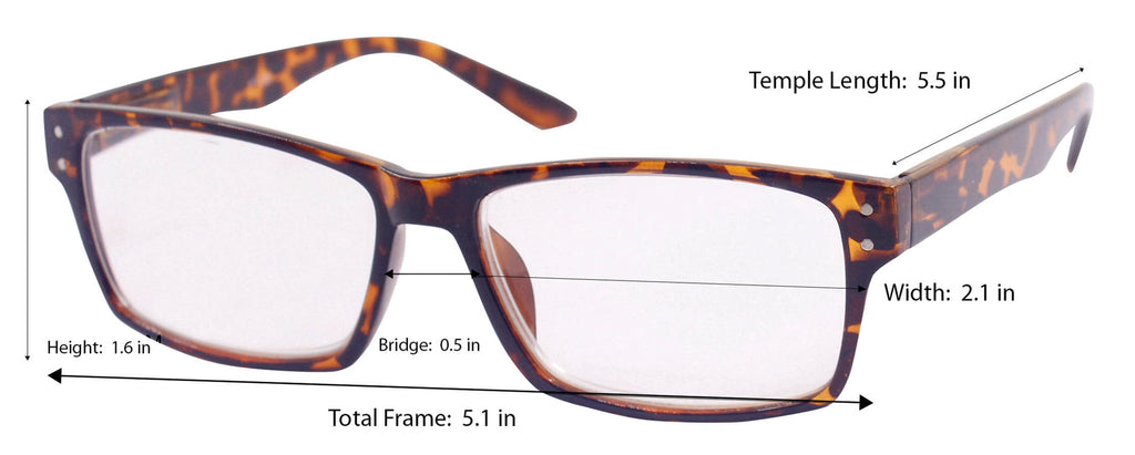 DII Computer Reading Glasses Tortoise 1.0