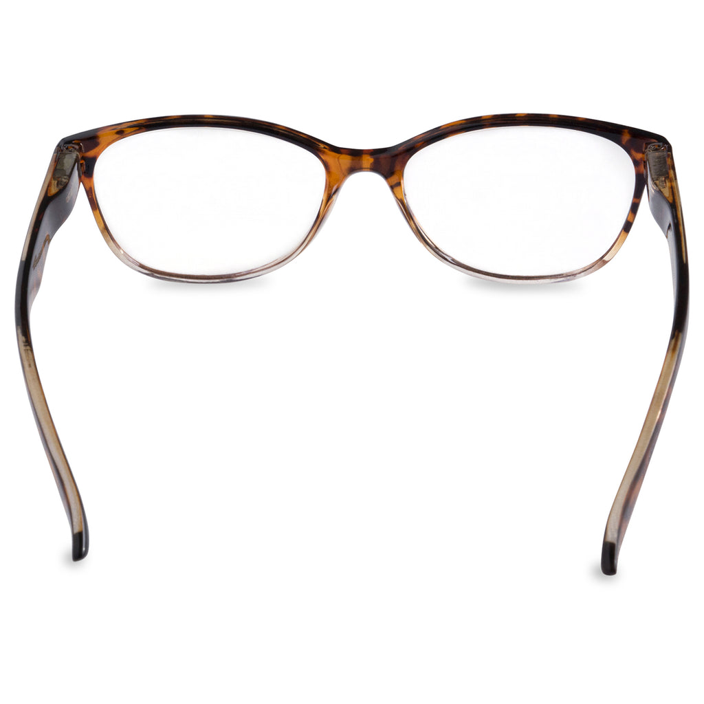 DII Womens Tortoise Reading Glasses Brown 2.0