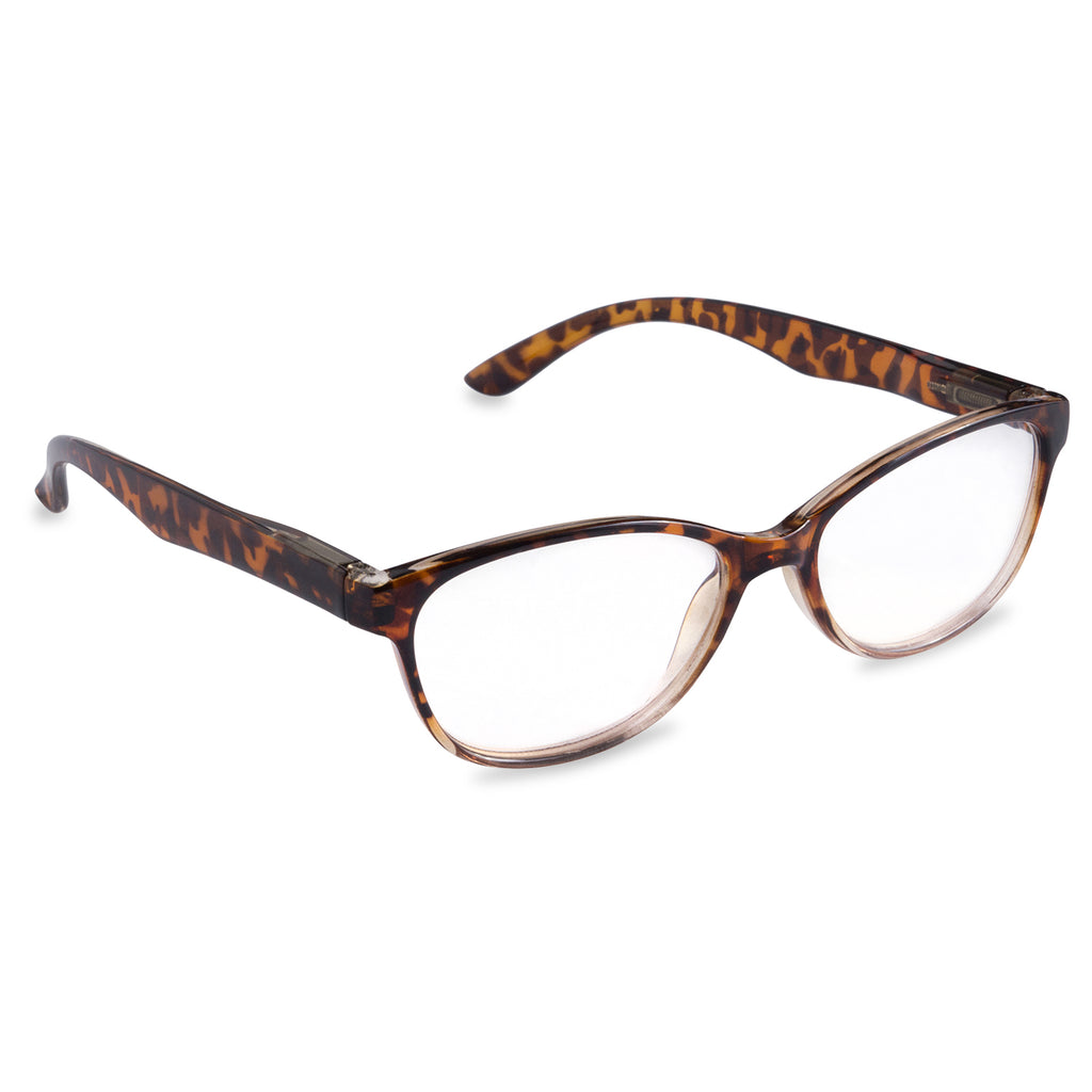 Womens Tortoise Reading Glasses Brown 3.5
