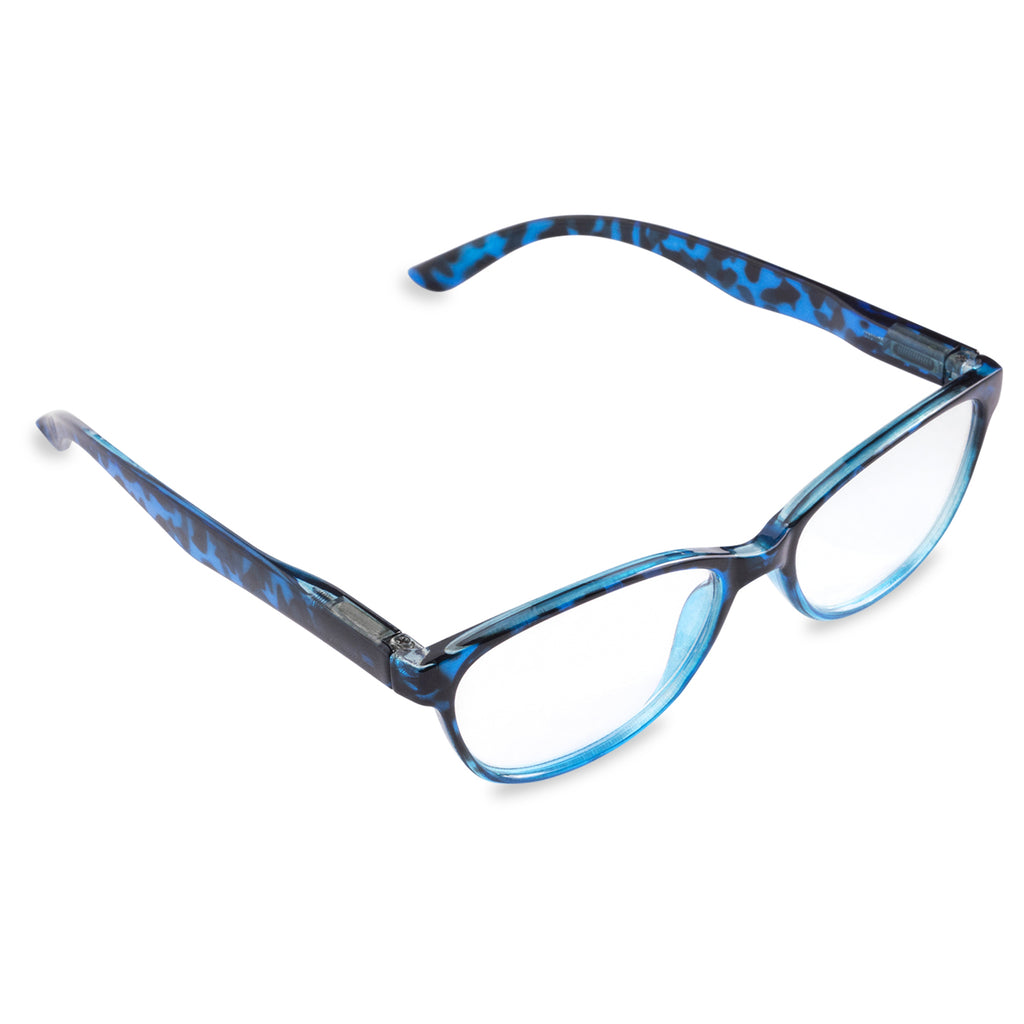 Womens Tortoise Reading Glasses Blue 1.75