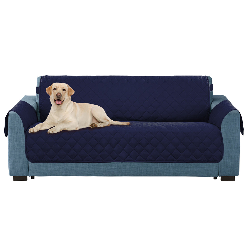 Reversible Loveseat Cover Navy