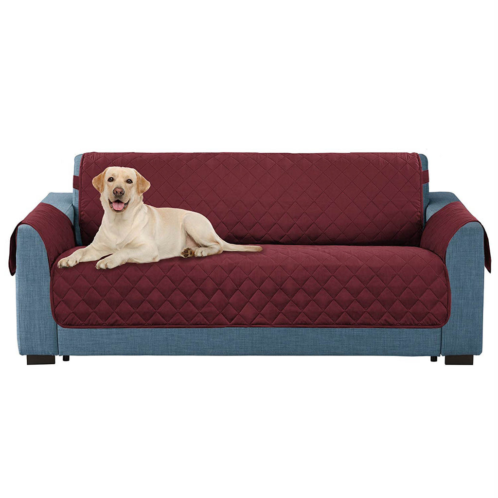 Reversible Loveseat Cover Cranberry