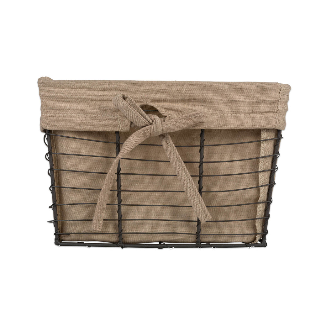 DII Vintage Grey Wire Basket(Set of 3) Small Desert Taupe Liner