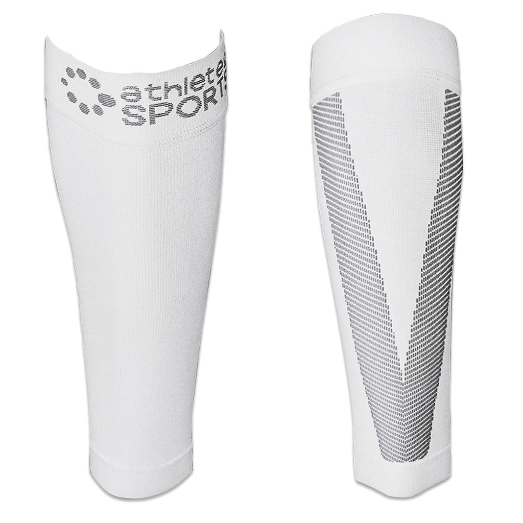 Compression Calf Sleeves White S/M