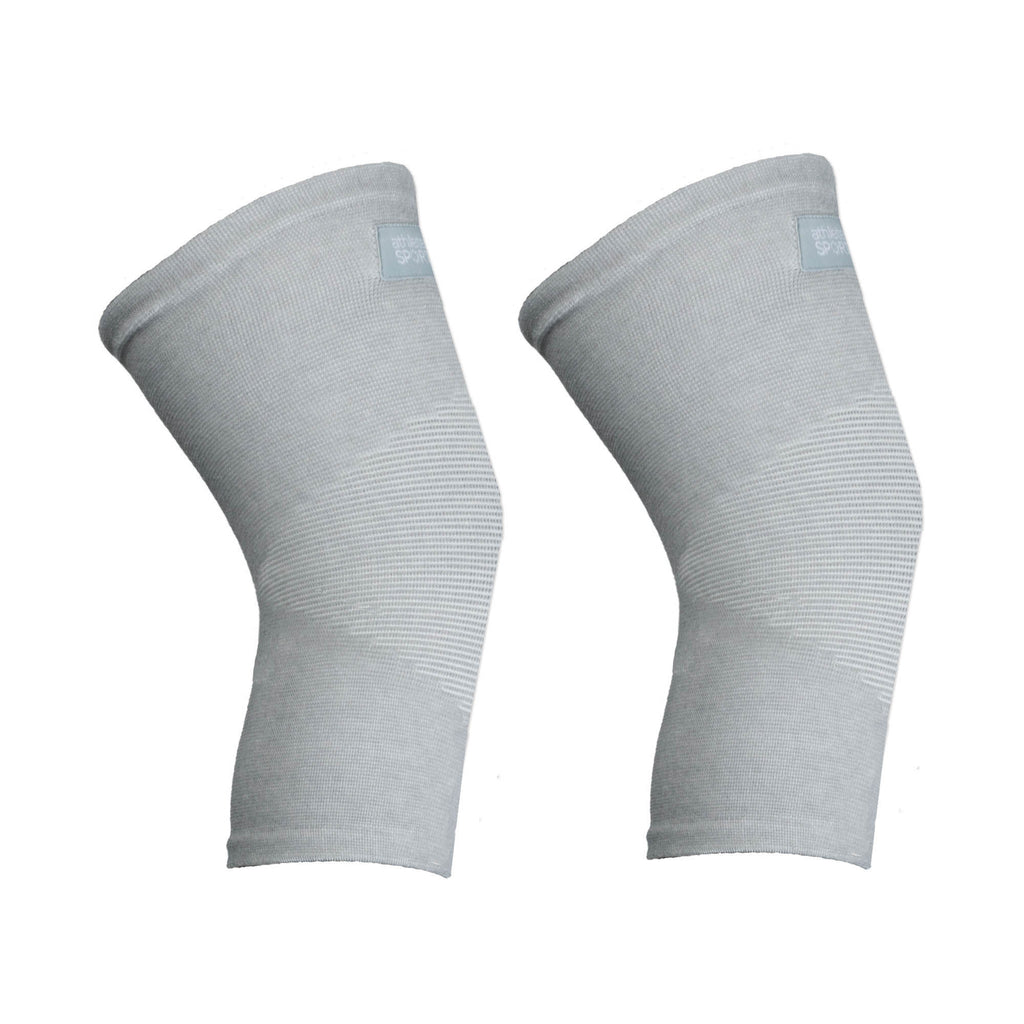 Bamboo Charcoal Knee Sleeves Grey White L