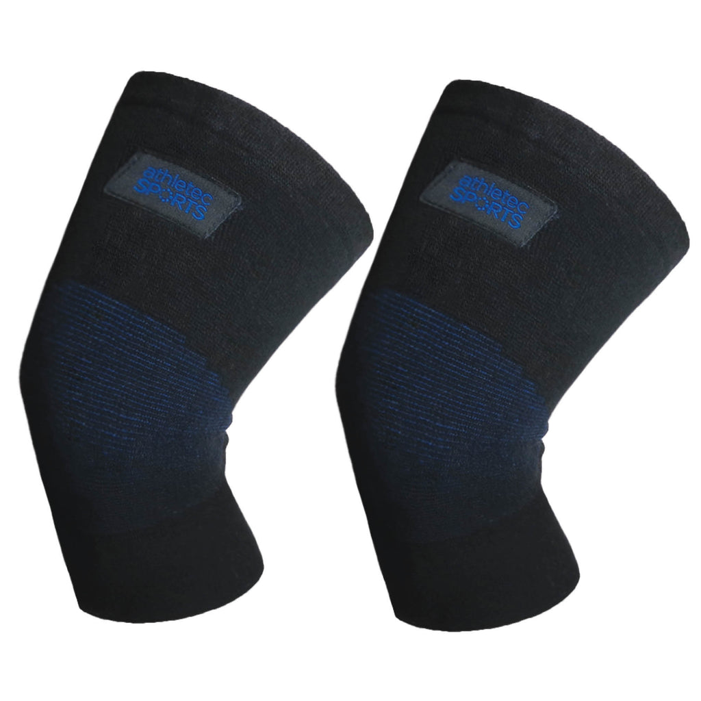 Bamboo Charcoal Knee Sleeves Black Blue L