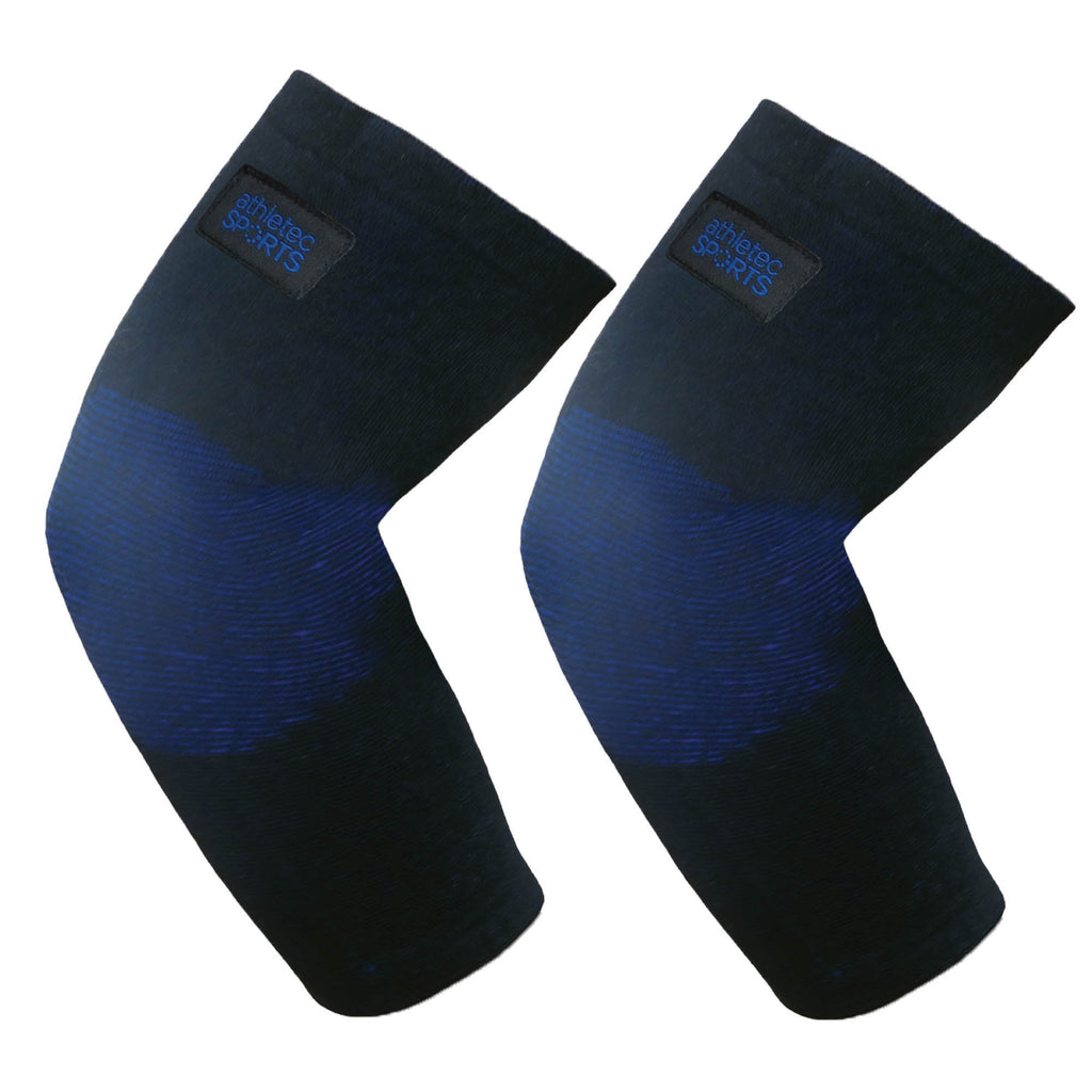 Bamboo Charcoal Elbow Sleeves Black Blue M