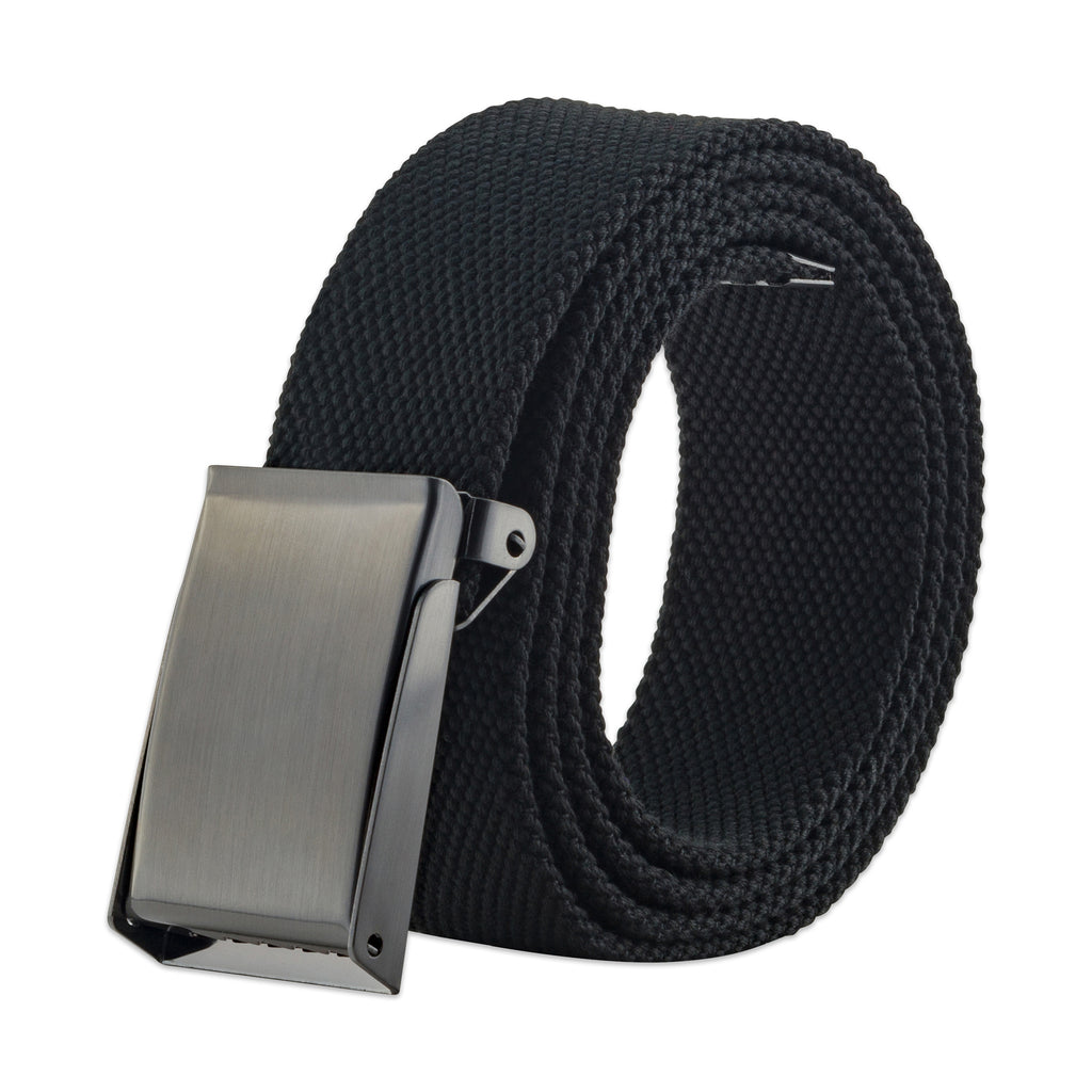Mens Military Style Canvas Web Belt 56 Black