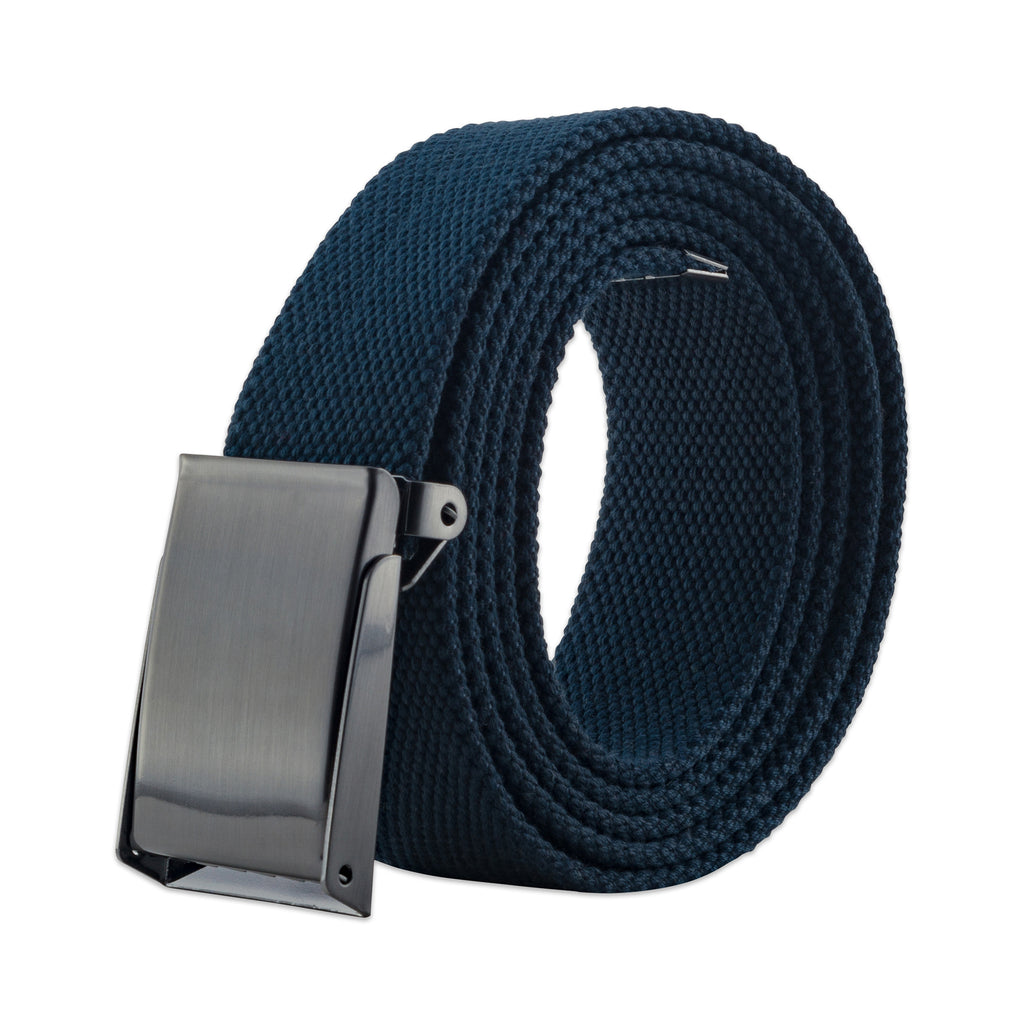 Mens Military Style Canvas Web Belt 56 Navy