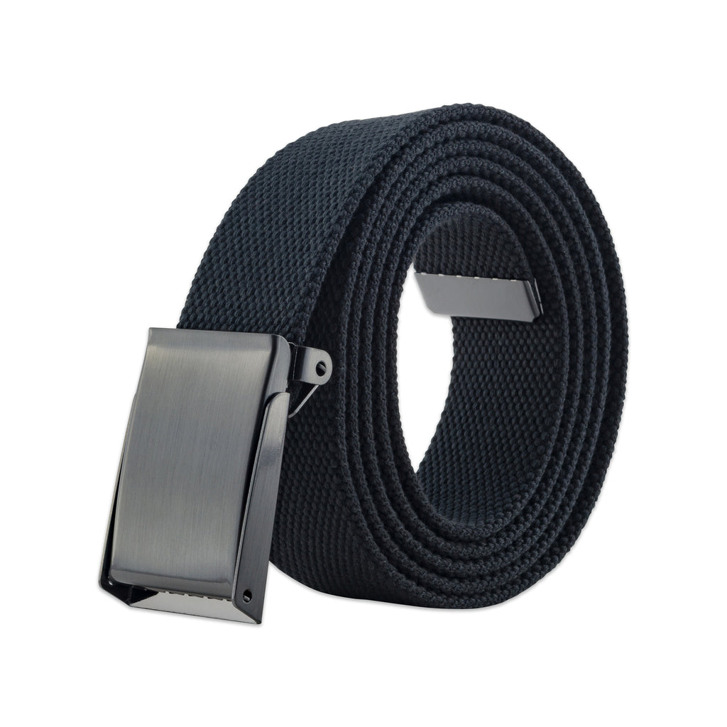 Mens Military Style Canvas Web Belt 56 Dark Grey
