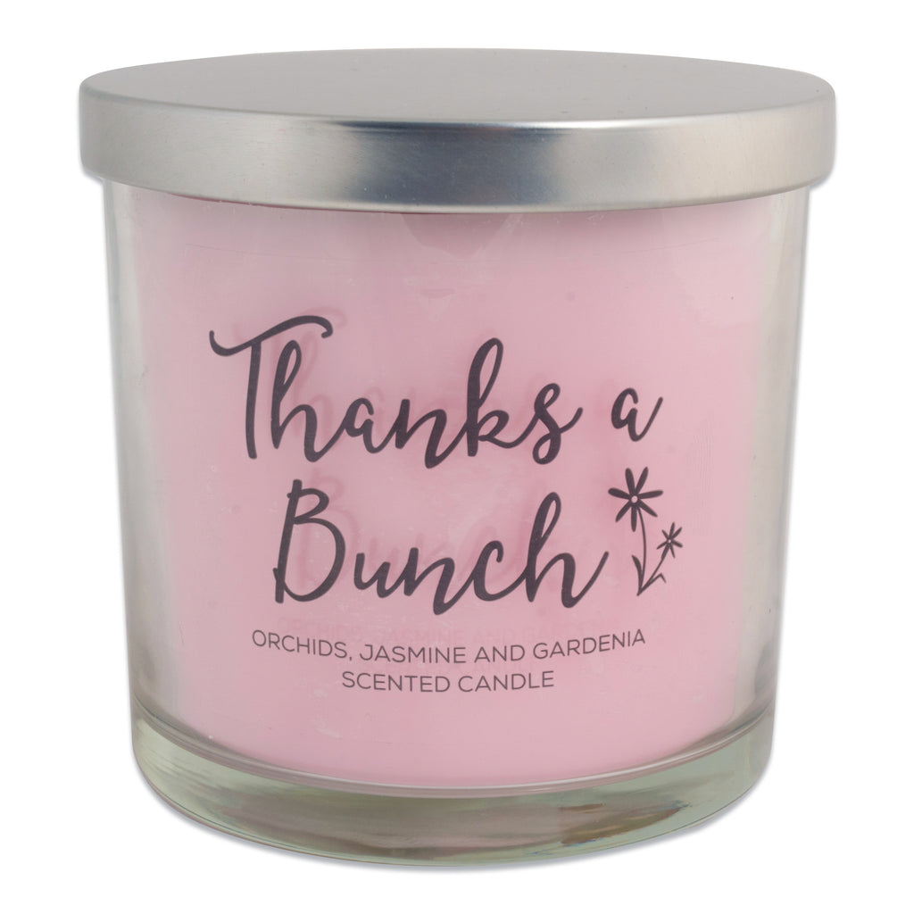 Thanks A Bunch! - Freshly Pick Orchids, Jasmine And Gardena 3 Wick Scented Candle