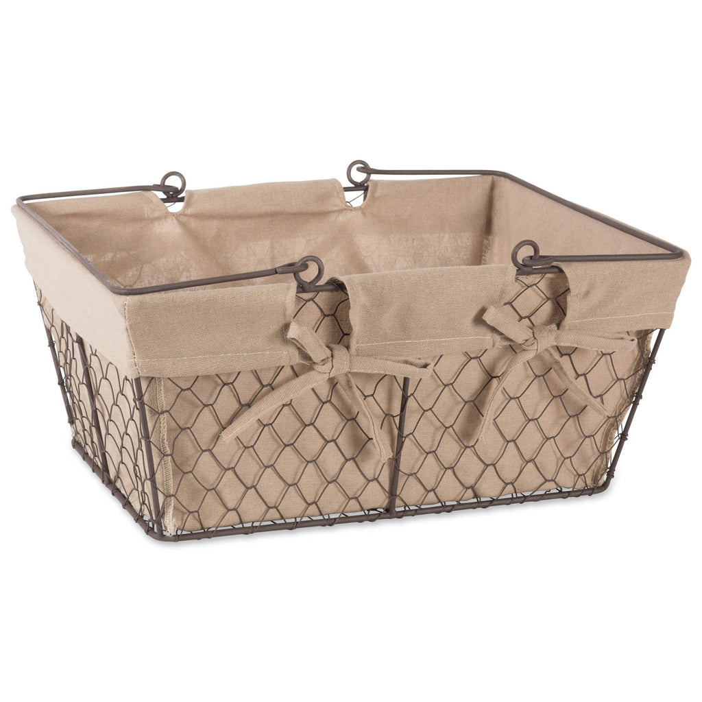 Chicken Wire Egg Basket Natural