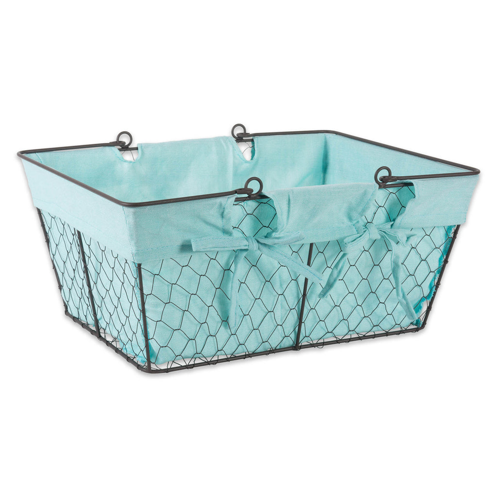 Chicken Wire Egg Basket Aqua