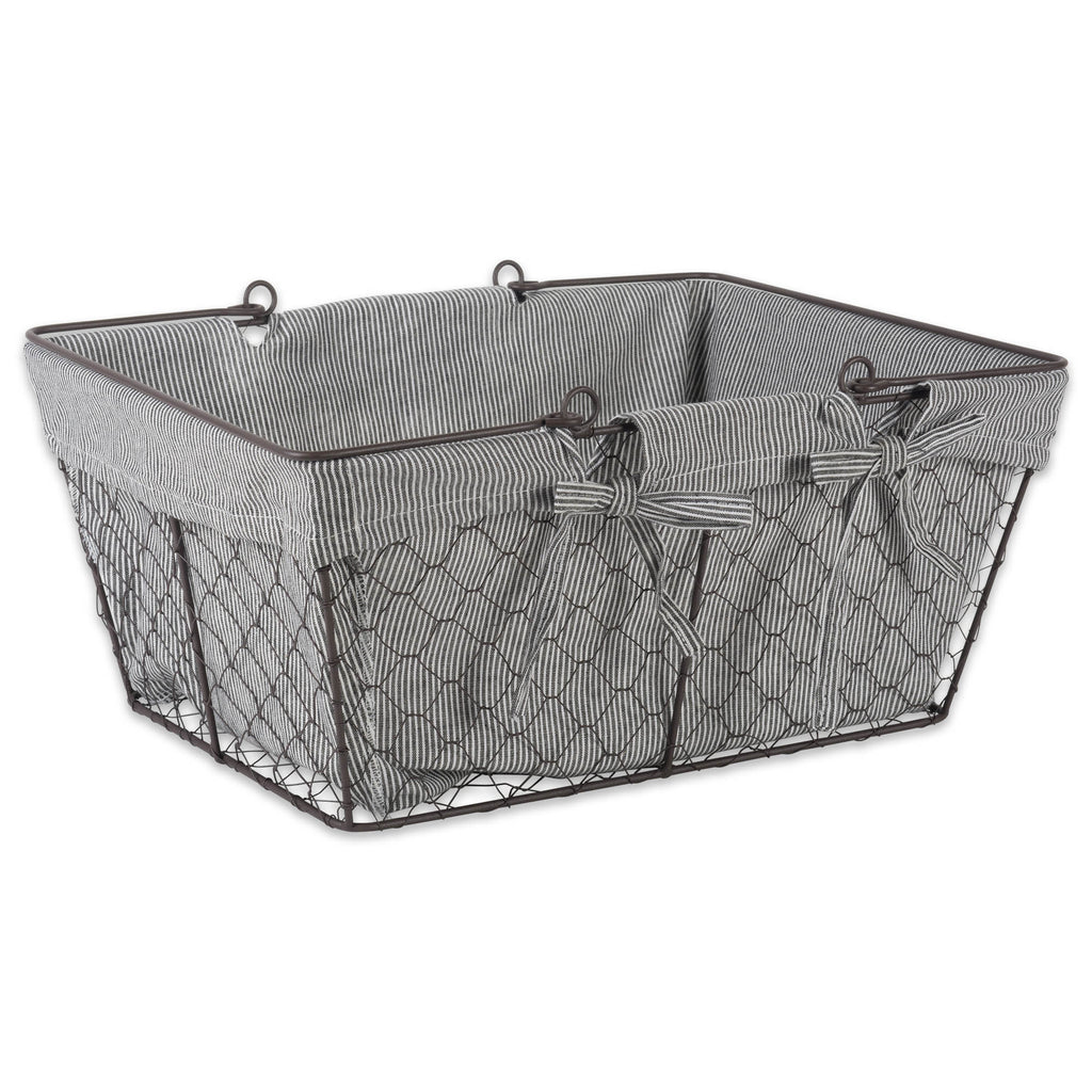 Chicken Wire Egg Basket Ticking