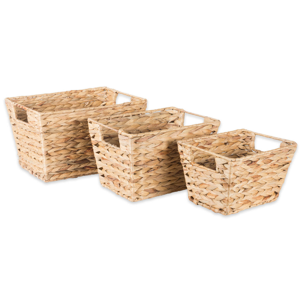 Asst Water Hyacinth Basket Set/3